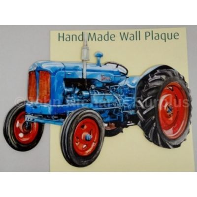 Handmade wooden wall plaque Fordson Major Tractor