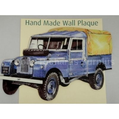 Handmade wooden wall plaque Land Rover Series 1 107/109 Pick Up