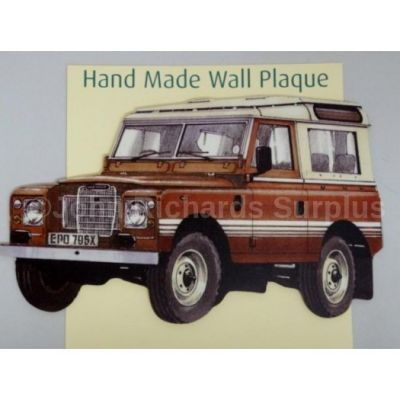Handmade wooden wall plaque Land Rover Series 3 SWB County