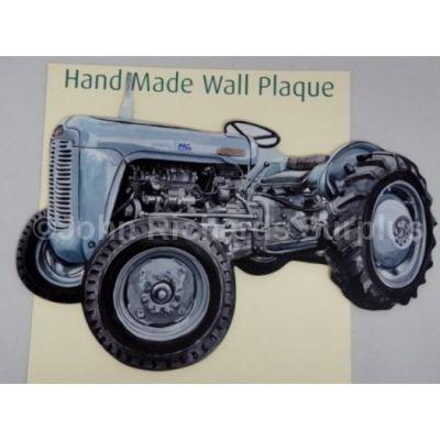 Handmade wooden wall plaque Ferguson 35 Tractor