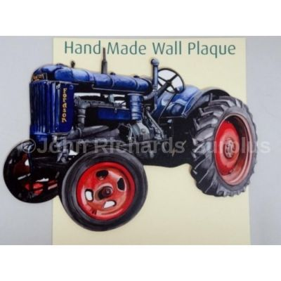 Handmade wooden wall plaque Fordson EN27 Tractor